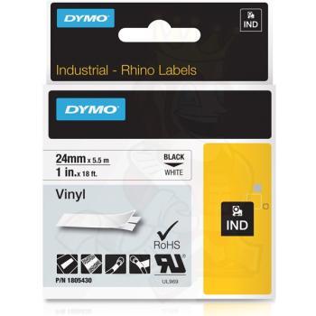 DYMO Ετικέτες RHINO 24m X 5.5Μ Black on White Vinyl 1805430