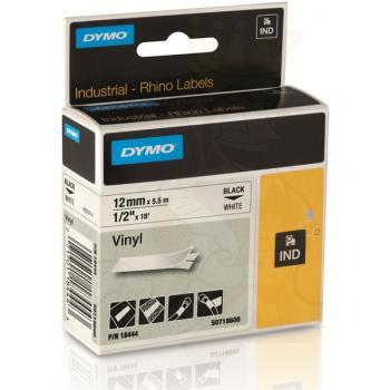 DYMO Ετικέτες RHINO 12mm x 1.5Μ Black on White Vinyl 18444