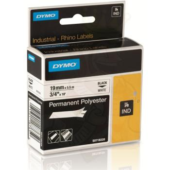 DYMO Ετικέτες RHINO 19m X 5.5Μ Permanent Black on White Polyester 18484
