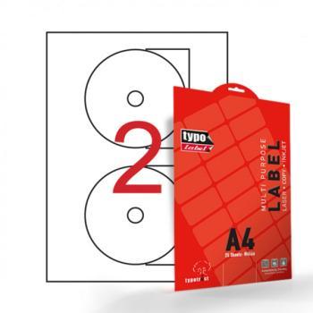 Αυτοκόλλητες ετικέτες CD 117mm 25 Φύλλα