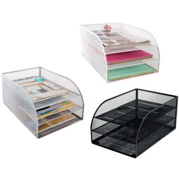 Δίσκοι γραφείου πλέγμα OSCO βάση + 3 δίσκοι (3 χρώματα)