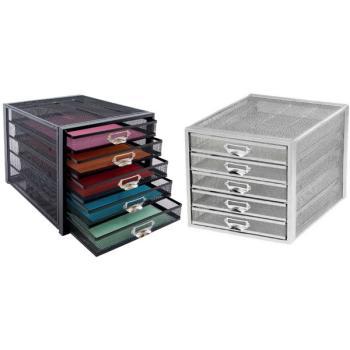 Συρταριέρα γραφείου OSCO πλέγμα 5 θέσεων (2 χρώματα)