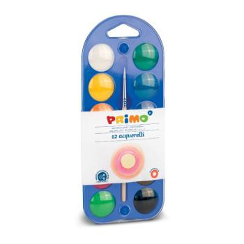 Νερομπογιές PRIMO 12 χρώματα + πινέλο