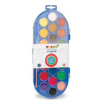 Νερομπογιές PRIMO 22 χρώματα + πινέλο