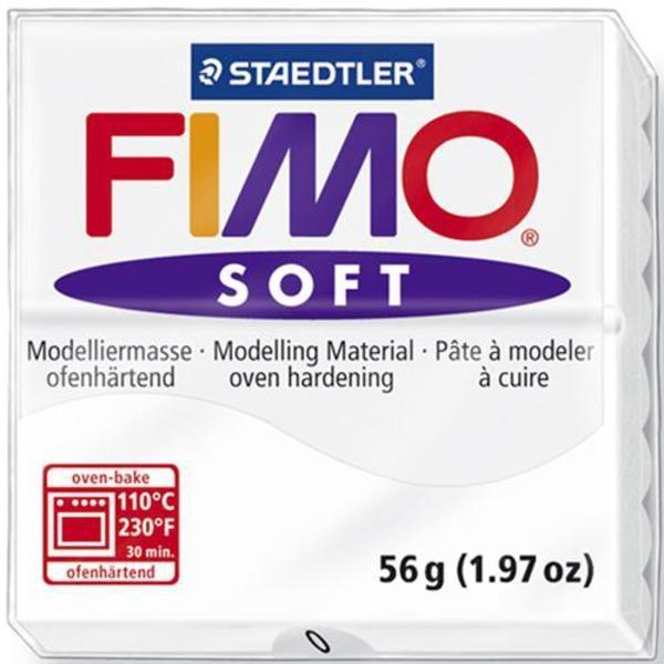 Πηλός Λευκός STAEDTLER 56gr FIMO-SOFT 8020