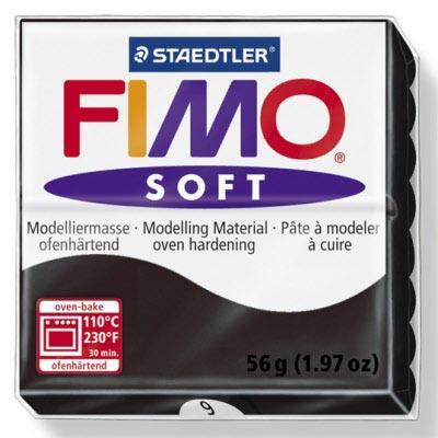 Πηλός Μαύρος STAEDTLER 56gr FIMO-SOFT 8020