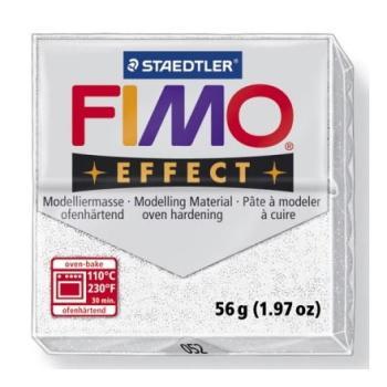 Πηλός Λευκός με Glitter STAEDTLER 56gr FIMO-SOFT 8020