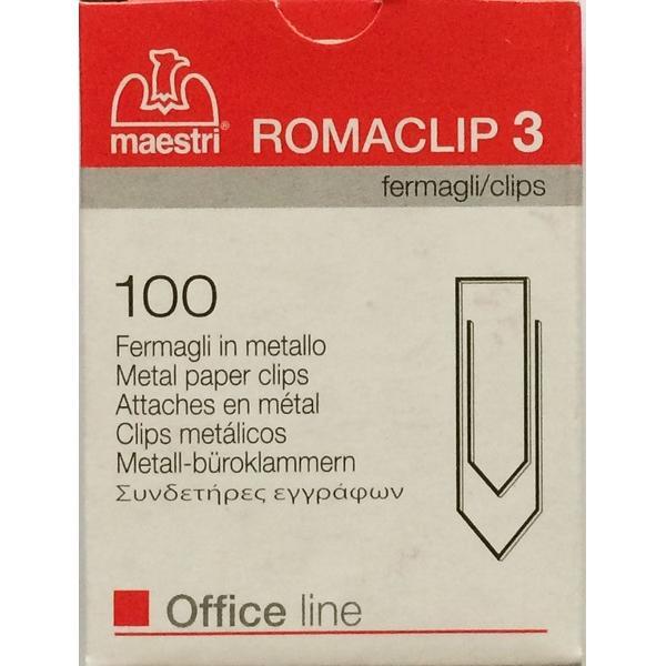 Μεταλλικοί συνδετήρες ROMA Nο.3 100τεμ 30mm