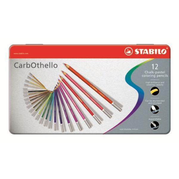 Μολύβια χρωματιστά κιμωλίας STABILO CARB 1412-6 12τεμ METAL