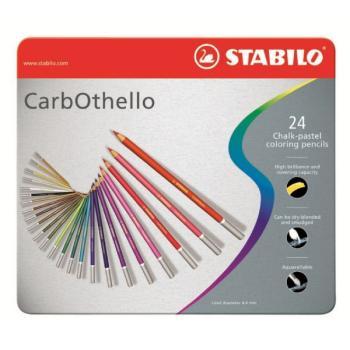 Μολύβια χρωματιστά κιμωλίας STABILO CARB 1424-6 24τεμ METAL