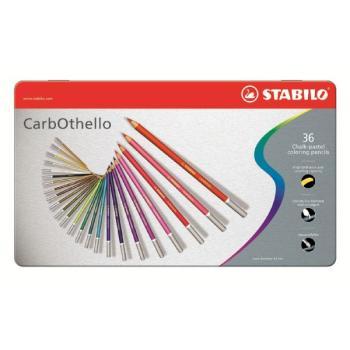 Μολύβια χρωματιστά κιμωλίας STABILO CARB 1436-6 36τεμ METAL
