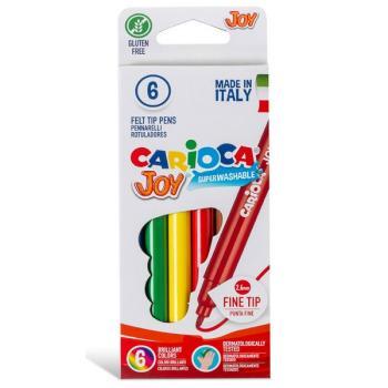 Μαρκαδόροι Ζωγραφικής CARIOCA JOY ΛΕΠΤΟΙ 40613 (6 μαρκαδόροι)
