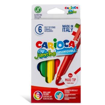 Μαρκαδόροι Ζωγραφικής CARIOCA JUMBO ΧΟΝΔΡΟΙ 40568 (6 μαρκαδόροι)