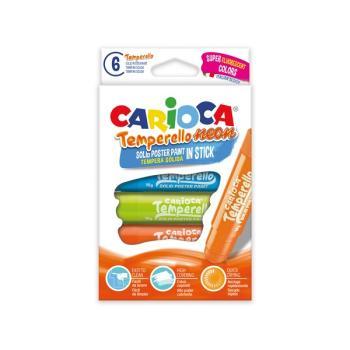 Μαρκαδόροι ζωγραφικής CARIOCA TEMPERELLO NEON 6 χρώματα