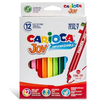 Μαρκαδόροι Ζωγραφικής CARIOCA JOY ΛΕΠΤΟΙ 40614 (12 μαρκαδόροι)