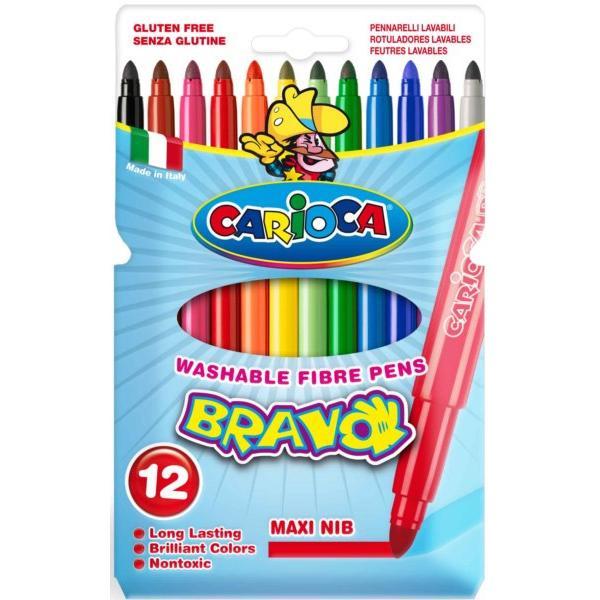 Μαρκαδόροι Ζωγραφικής CARIOCA BRAVO MAXI 42755 (12μαρκαδόροι)