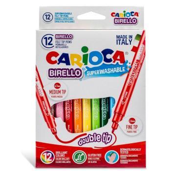 Μαρκαδόροι Ζωγραφικής CARIOCA BIRELLO DUAL TRIP 41457 (12 μαρκαδόροι)