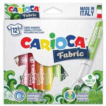 Μαρκαδόροι Ζωγραφικής CARIOCA FABRIC ART CROMATEX 40957 (12 μαρκαδόροι)