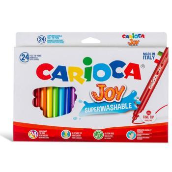 Μαρκαδόροι Ζωγραφικής CARIOCA JOY ΛΕΠΤΟΙ 40615 (24 μαρκαδόροι)