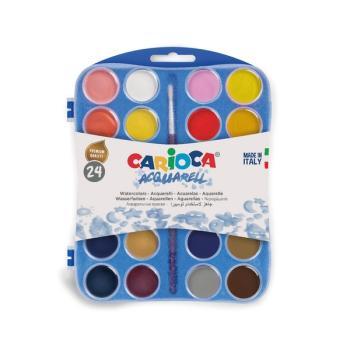 Νερομπογιές CARIOCA 24 PLASTIC CASE KO054/E 30mm