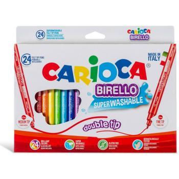 Μαρκαδόροι Ζωγραφικής CARIOCA BIRELLO DUAL TRIP 41521 (24 μαρκαδόροι)