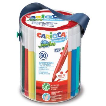 Μαρκαδόροι Ζωγραφικής CARIOCA JUMBO ΧΟΝΔΡΟΙ 42312 (50 μαρκαδόροι)