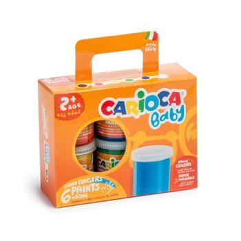 Δακτυλοχρώματα CARIOCA BABY 6 χρώματα 80ml