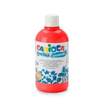 Τέμπερα CARIOCA Superwashable μπουκάλι 500ml ΚΟΚΚΙΝΟ