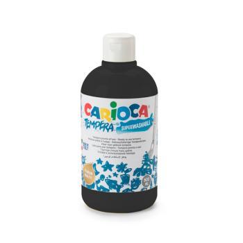 Τέμπερα CARIOCA Superwashable μπουκάλι 500ml ΜΑΥΡΟ