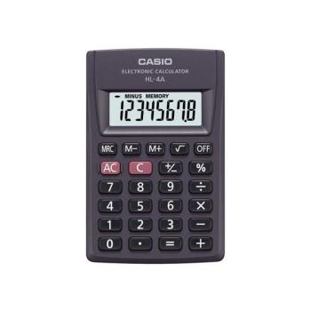 Αριθμομηχανή ψηφιακή CASIO HL-4A (8 ΨΗΦΙΩΝ)
