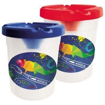Πλαστικό δοχείο με καπάκι KIDEA 053315 ΚΑΘΑΡΙΣΜΟΥ ΠΙΝΕΛΩΝ 1 ΟΠΗ