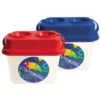 Πλαστικό δοχείο με καπάκι KIDEA 053322 ΚΑΘΑΡΙΣΜΟΥ ΠΙΝΕΛΩΝ 2 ΟΠΕΣ