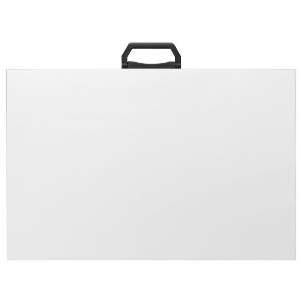Λευκή πινακίδα γραμμικού σχεδίου με λαβή 50x70cm