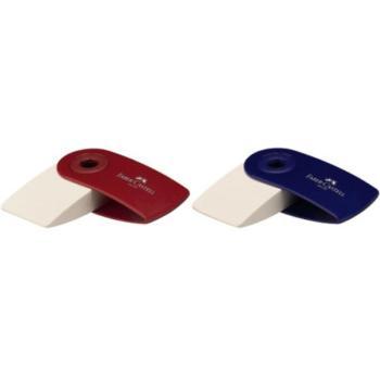 Γόμα Faber Castell μπλε/κόκκινη AWF 182411 SLEEVE MINI RED/BLUE