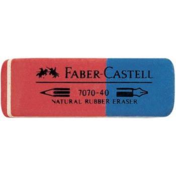 Γόμα Faber Castell AWF 187040 7070-40 RED/BLUE