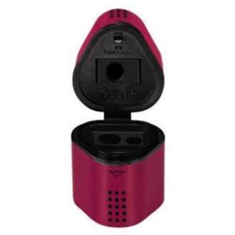 Ξύστρα Faber Castell 283834 με καπάκι TRIO BOX GRIP ΦΟΥΞΙΑ