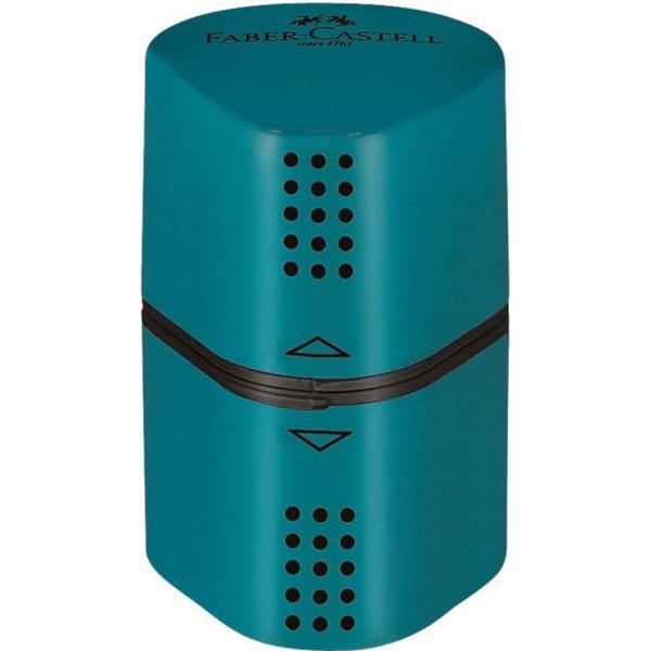 Ξύστρα Faber Castell 583802 με καπάκι TRIO BOX GRIP ΠΕΤΡΟΛ