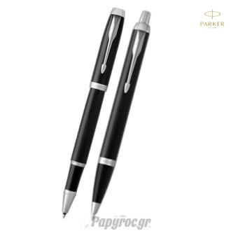SET GIFTPACK PARKER Στυλό Διαρκείας & Roller Ball NEW I.M PREMIUM CORE LAQUE BLACK CT
