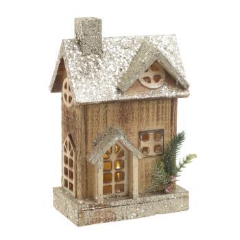 INART Χριστουγεννιάτικο Διακοσμητικό σπίτι με LED 2-70-002-0009