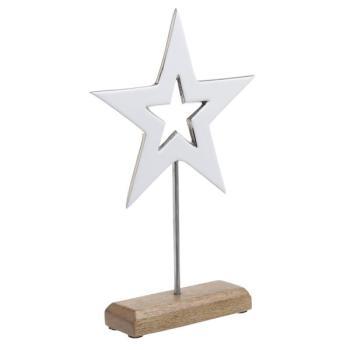 "INART Μεταλλικό/ξύλινο διακοσμητικό ""αστέρι"" 2-70-357-0041"