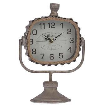 Επιτραπέζιο ρολόϊ INART μεταλλικό γκρι 21X13X32