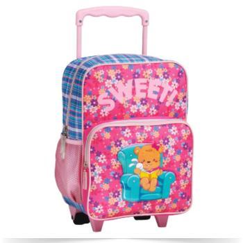 Σχολική τσάντα νηπίου τρόλεϋ LYCSAC Bonnie Line 35x22x15 cm 52434