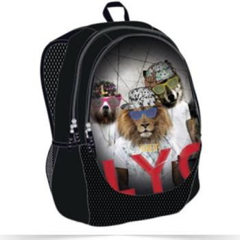 Σχολική τσάντα πλάτης LYCSAC Lion rappers 45x31x18 cm 61031