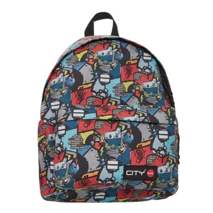a49e23630f3 Σχολική τσάντα πλάτης CITY 41x30x15 GRAFFITIS 11317 | Papyroc.gr Eshop