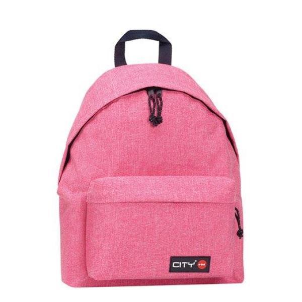 Σχολική τσάντα πλάτης CITY 41x30x15 MELANGES ροζ 96617