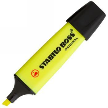 Μαρκαδόρος Υπογράμμισης STABILO BOSS φωσφοριζέ κίτρινο