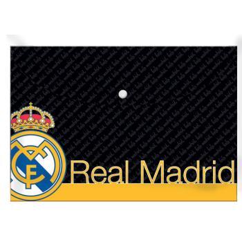Σχολικός φάκελος κουμπί MUST Α4 REAL MADRID 170554
