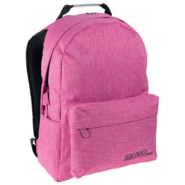 Σχολική τσάντα Πλάτης MUST ΡΟΖ 2 ΘΗΚΕΣ 42X32X17 TZIN 579403