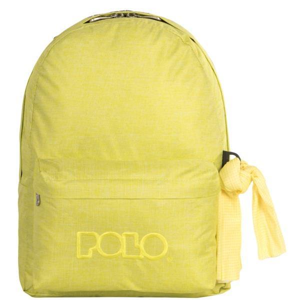 6d0ad95aa91 Σχολική τσάντα POLO πλάτης DOUBLE SCARF κίτρινη 9-01-235-97 (2017 ...