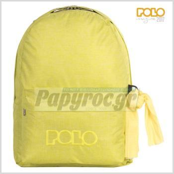 Σχολική τσάντα POLO πλάτης DOUBLE SCARF κίτρινη 9-01-235-97 (2017)